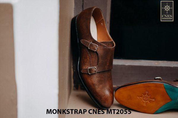 Giày tây nam da bê Monkstrap CNES MT2055 003