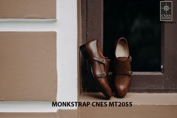 Giày tây nam da bê Monkstrap CNES MT2055 002