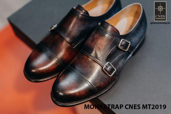 Giày da nam xỏ chân Monkstrap CNES MT2019 003