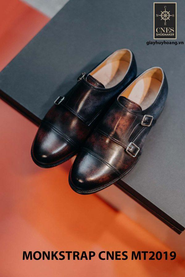 Giày da nam xỏ chân Monkstrap CNES MT2019 002