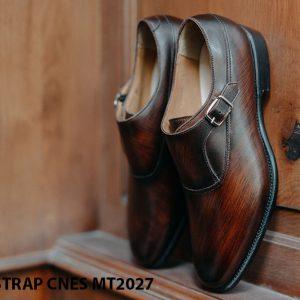 Giày da nam chính hãng Monkstrap CNES MT2027 003