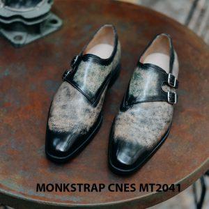 Giày nam da bê ý Monkstrap CNES MT2041 001