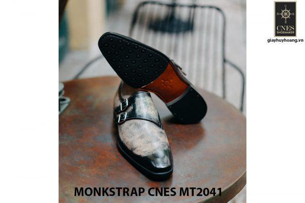 Giày nam da bê ý Monkstrap CNES MT2041 004