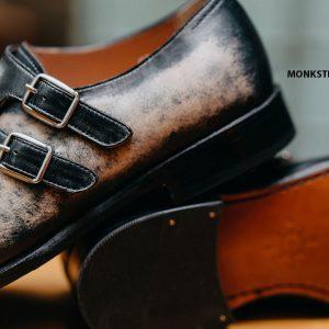 Giày nam da bê ý Monkstrap CNES MT2041 003