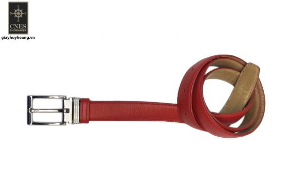 Dây nịt thắt lưng nam đầu kim da bò 2 lớp CNES 045