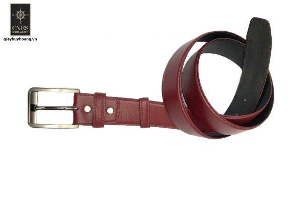 Dây nịt thắt lưng nam đầu kim da bò 2 lớp CNES 038