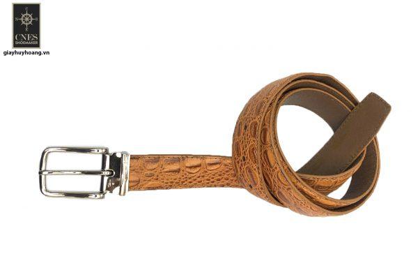 Dây nịt thắt lưng nam đầu kim da bò 2 lớp CNES 036