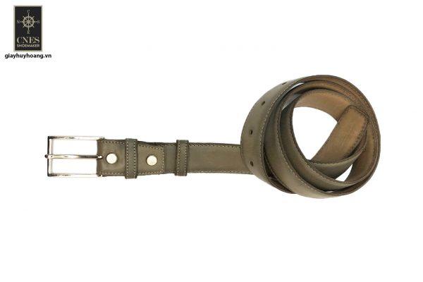 Dây nịt thắt lưng nam đầu kim da bò 2 lớp CNES 032