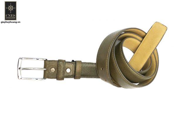 Dây nịt thắt lưng nam đầu kim da bò 2 lớp CNES 021