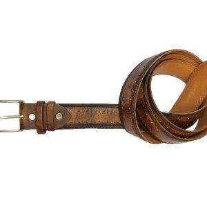 Dây nịt thắt lưng nam đầu kim da bò 2 lớp CNES 003
