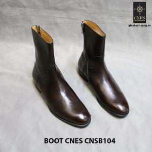 Giày da nam cổ cao ZipBoot CNES CNSB104 001