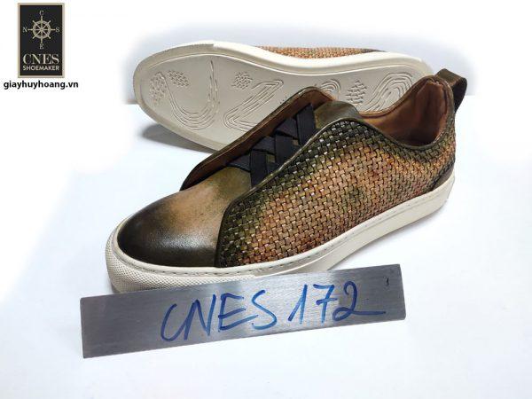 [Outlet size 39+40+43] Giày da Sneaker nam CNES 172 001