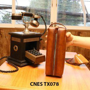 Túi da bò đựng xi kem đánh giày CNES TX078 003