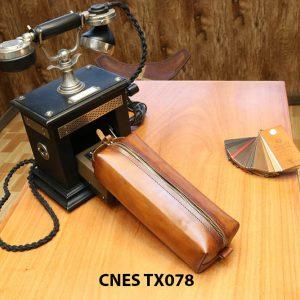 Túi da bò đựng xi kem đánh giày CNES TX078 001