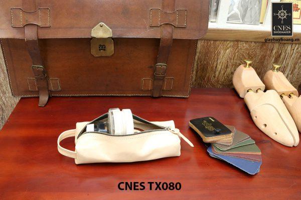 Bóp da đựng xi kem dưỡng giày cao cấp CNES TX080 003