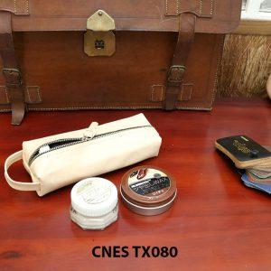 Bóp da đựng xi kem dưỡng giày cao cấp CNES TX080 002