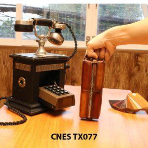 Túi da bò đựng phụ kiện giày tây CNES TX077 002