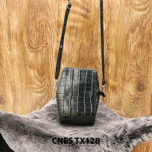 Túi ví nữ da bò dập cá sấu CNES TX128 001