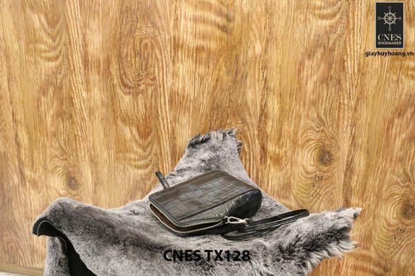 Túi ví nữ da bò dập cá sấu CNES TX128 003