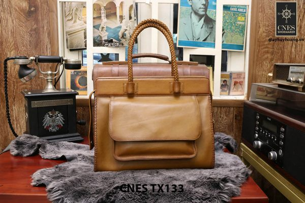 Túi cầm tay da bê chất lượng CNES TX133 001