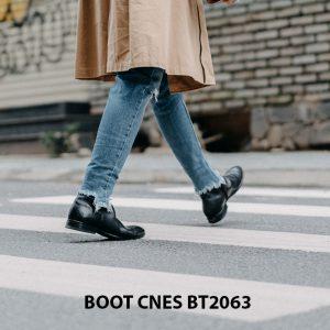 Giày tây Boot nam da trơn CNES BT2063 005