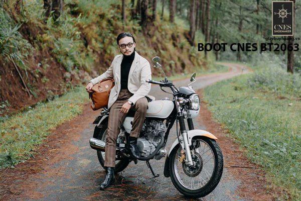 Giày tây Boot nam da trơn CNES BT2063 003