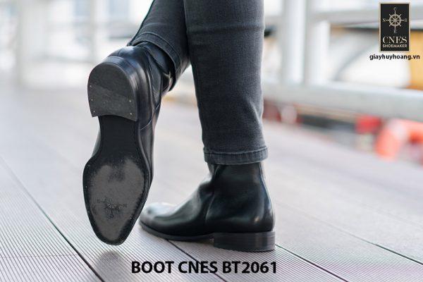 Giày da Boot nam đen bóng CNES BT2061 004
