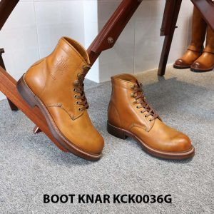 [Outlet size 41] Giày Boot cổ cao buộc dây Knar KCK0036G 005