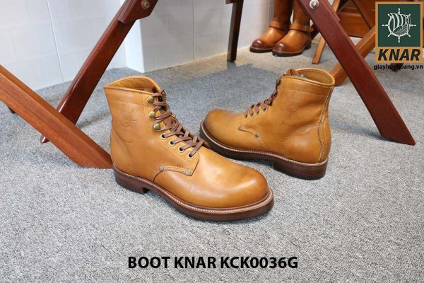 [Outlet size 41] Giày Boot cổ cao buộc dây Knar KCK0036G 003