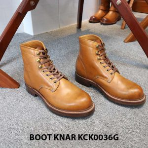 [Outlet size 41] Giày Boot cổ cao buộc dây Knar KCK0036G 001