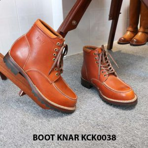 [Outlet size 42] Giày Boot buộc dây Knar KCK0038 005