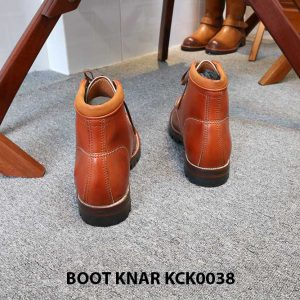 [Outlet size 42] Giày Boot buộc dây Knar KCK0038 004