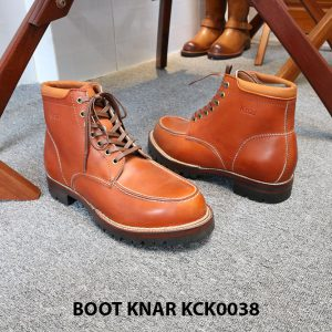[Outlet size 42] Giày Boot buộc dây Knar KCK0038 003
