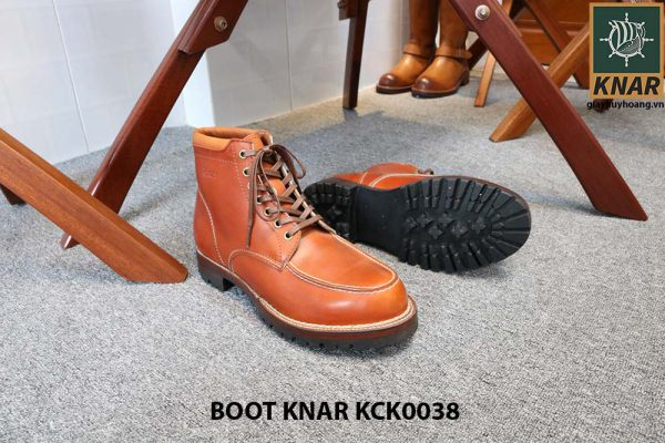[Outlet size 42] Giày Boot buộc dây Knar KCK0038 002