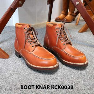 [Outlet size 42] Giày Boot buộc dây Knar KCK0038 001