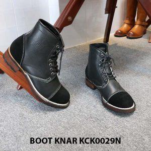 [Outlet size 42] Giày da Boot buộc dây Knar KCK0029N 005