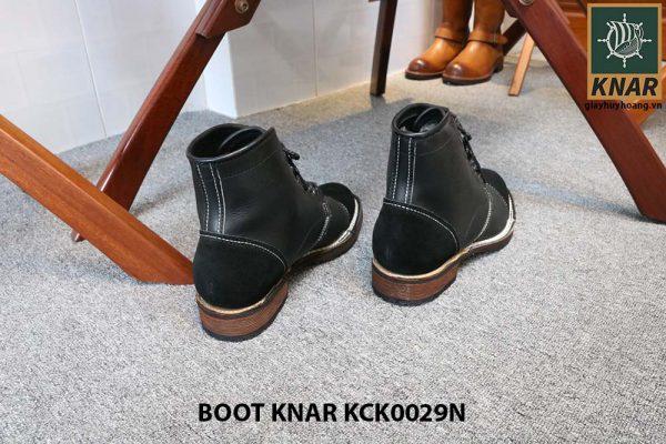 [Outlet size 42] Giày da Boot buộc dây Knar KCK0029N 004