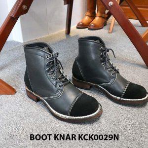 [Outlet size 42] Giày da Boot buộc dây Knar KCK0029N 001