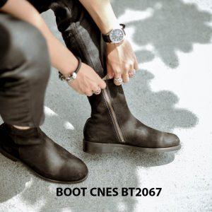 Giày tây Boot nam da lộn CNES BT2067 001