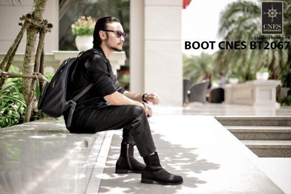 Giày tây Boot nam da lộn CNES BT2067 003