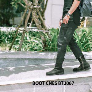 Giày tây Boot nam da lộn CNES BT2067 002