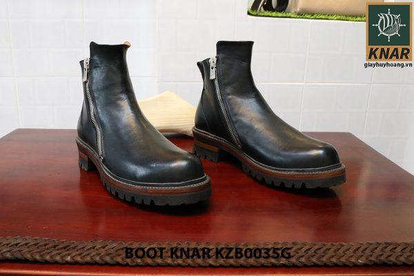 [Outlet size 41] Giày Boot dây kéo Knar KZB0035G 001