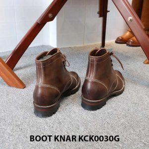 [Outlet size 42] Giày Boot cổ cao buộc dây Knar KCK0030G 004