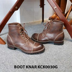 [Outlet size 42] Giày Boot cổ cao buộc dây Knar KCK0030G 003