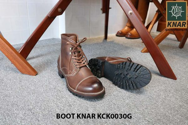 [Outlet size 42] Giày Boot cổ cao buộc dây Knar KCK0030G 002