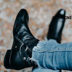 Giày tây Boot nam khoá kéo CNES BT2064 005