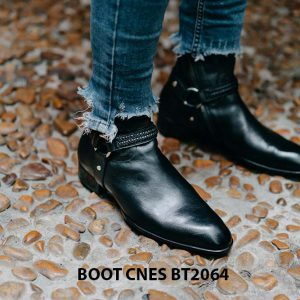 Giày tây Boot nam khoá kéo CNES BT2064 001
