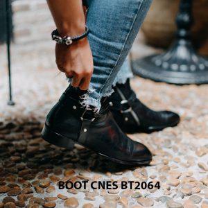 Giày tây Boot nam khoá kéo CNES BT2064 004