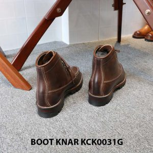 [Outlet size 41] Giày Boot cổ cao buộc dây Knar KCK0031G 005