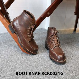 [Outlet size 41] Giày Boot cổ cao buộc dây Knar KCK0031G 004